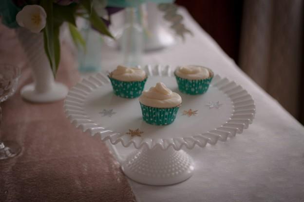 White Chiffon Cupcakes